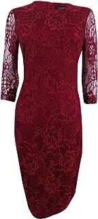 Jessica Simpson Women's Lace Midi Sheath Dress