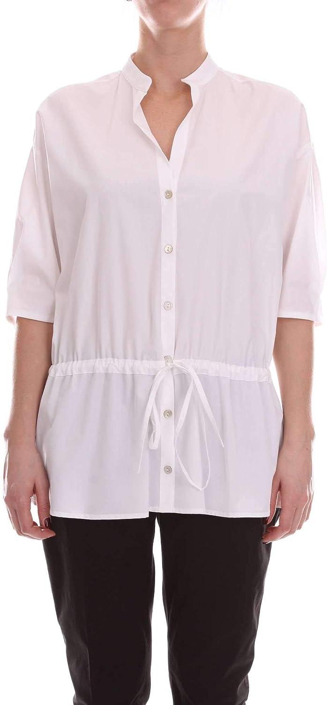 Barba Women's PE19381600WHITE White Cotton Shirt