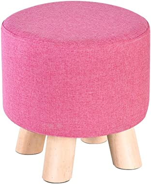 JCRNJSB Sofa stool Solid wood Stool Coffee table stool adult Shoes for shoes Bench Household Diameter 28× height 28cm Removable round Short leg sofa stool Wooden benc (Color : #2)