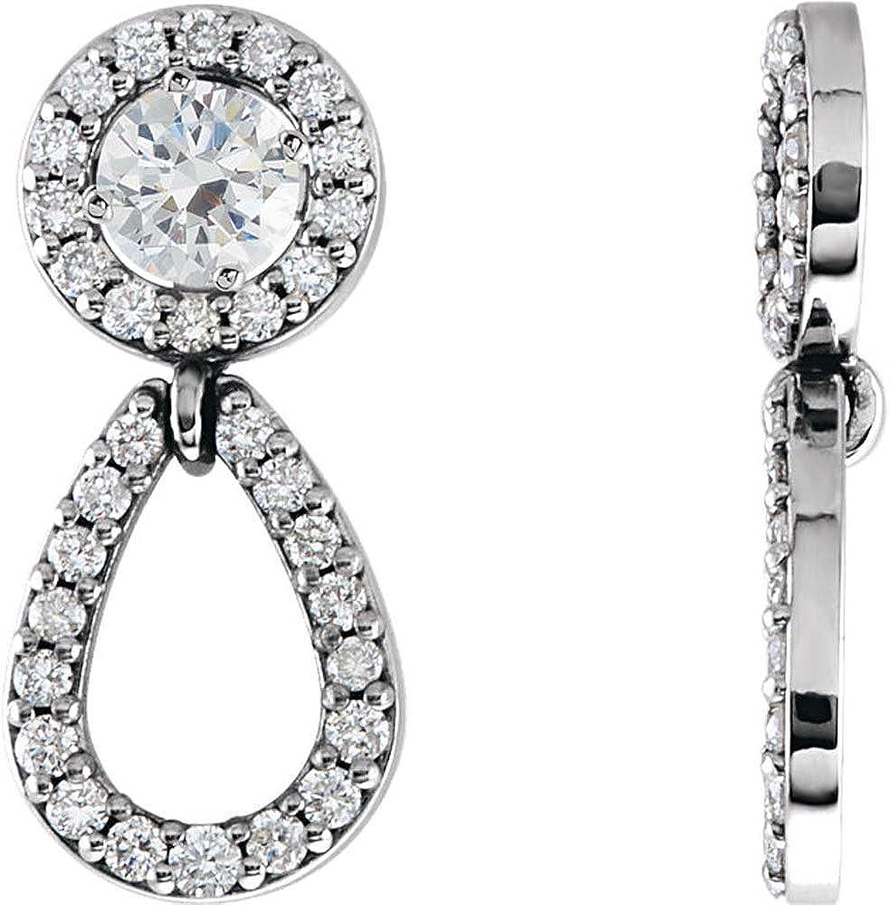 14K White Gold 1/3 CTW Diamond Earring Jackets