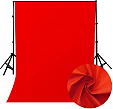 LEDMOMO Telón de fondo de la foto, telón de fondo de fotografía de color sólido no tejido Telón de fondo de fotografía telón de fondo de fotografía de estudio de foto (rojo)