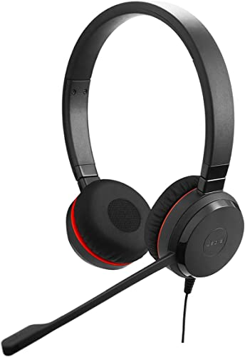 popular Jabra Evolve 30 II Wired Headset, Stereo, UC-Optimized – Telephone Headset lowest with Superior Sound sale for Calls and Music – 3.5mm Jack/USB Connection – Pro Headset with All-Day Comfort online sale