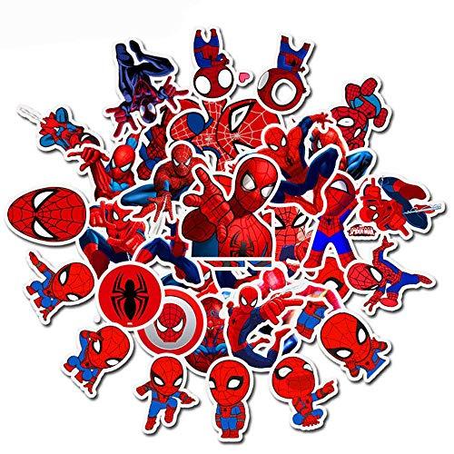 XZZ Spiderman Autocollant De Voiture Moto Voyage Bagages Téléphone Guitare Skateboard Autocollant 35 Pcs