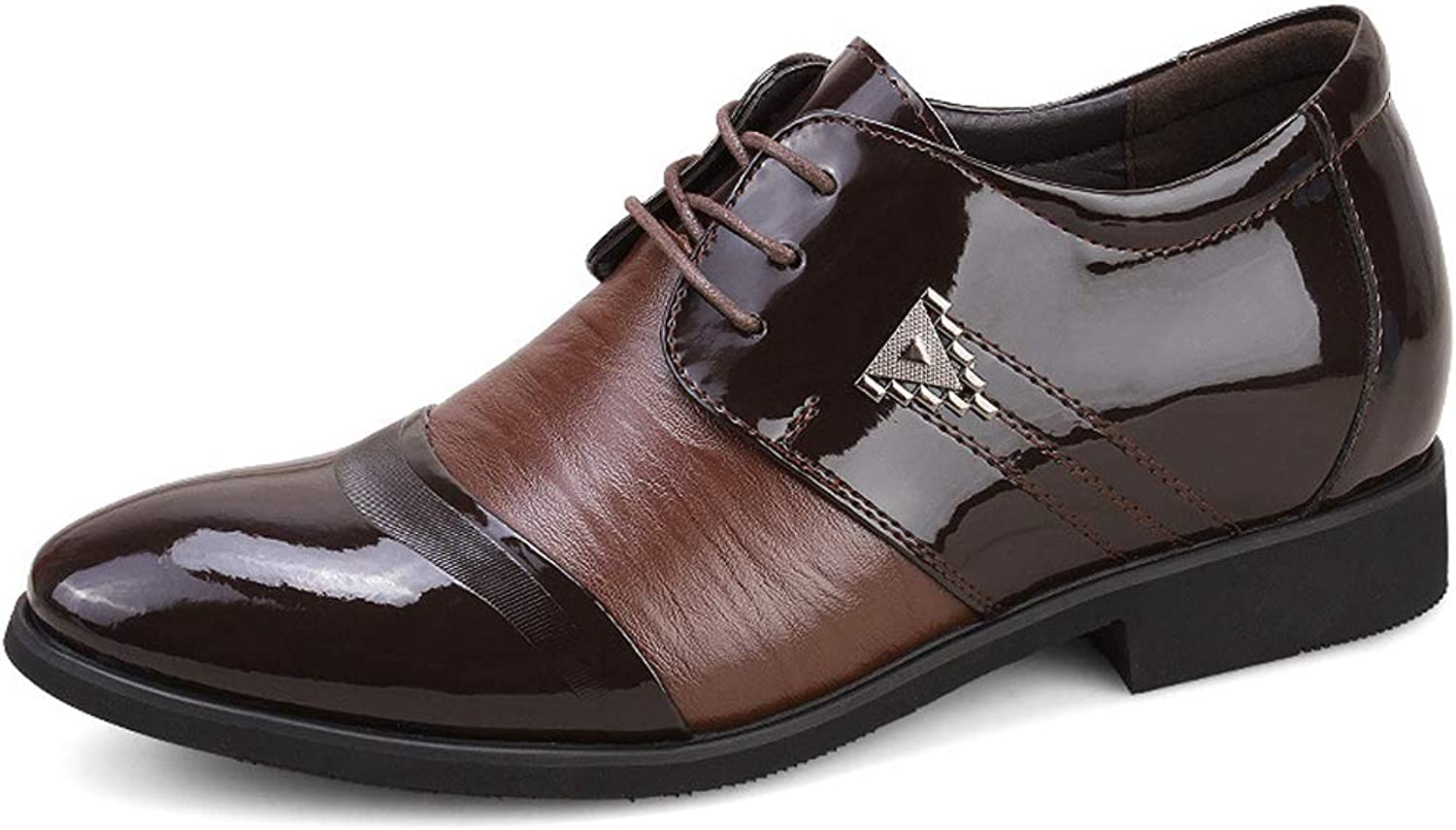 TYX-SS Men'S Leather shoes Pointed British Handmade shoes Business Dress Men'S shoes Increased Leather shoes