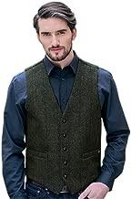 Classic Men's Tweed Vest, 100% Irish Wool, Made in Ireland, Green