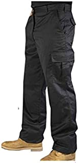 Roadmaster Men's Hard Wearing Cargo Combat Builders Warehouse Workwear Trouser, Available in Black and Navy Colours