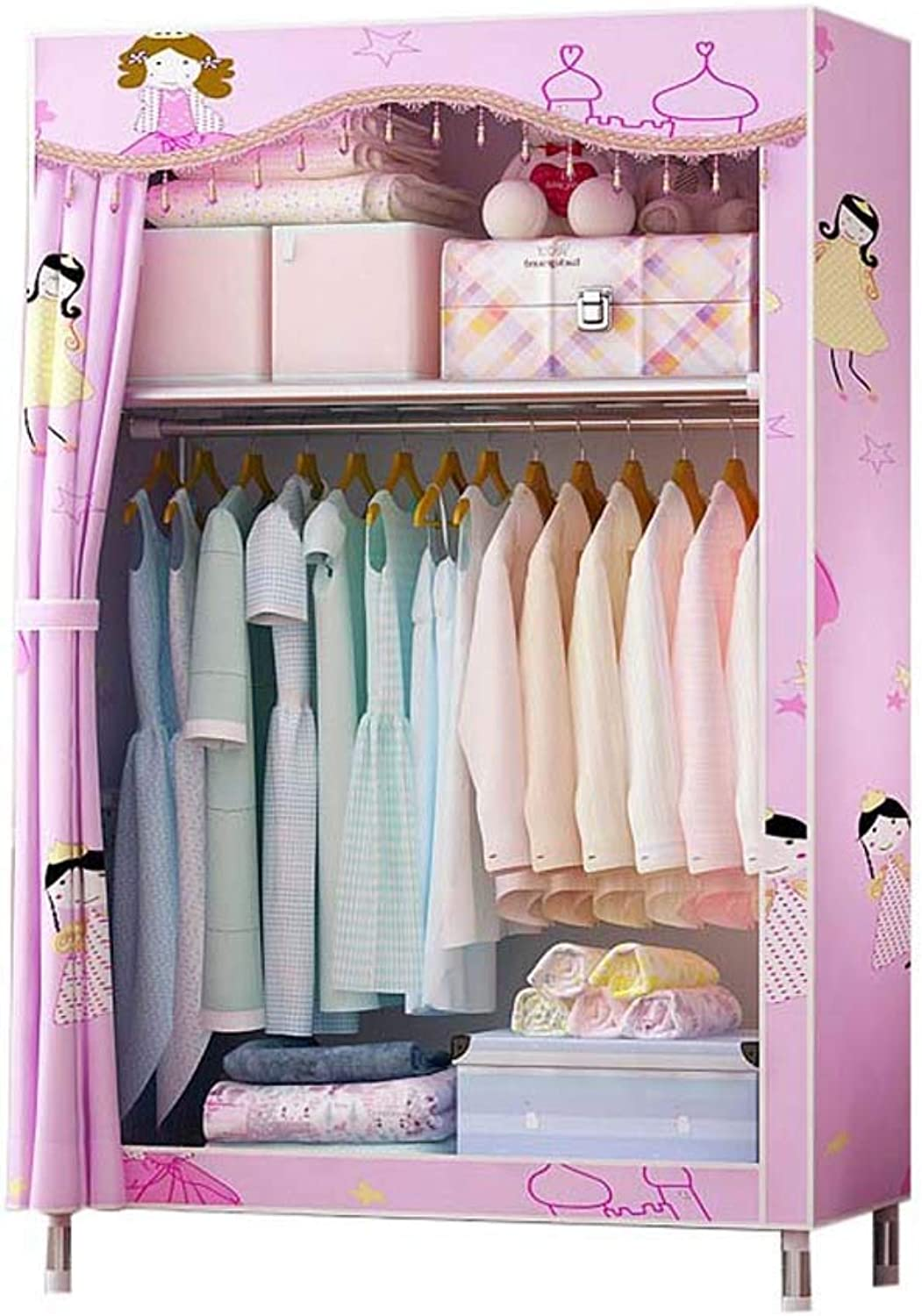 Hai Yan Boutique Cloth Wardrobe Cloth Wardrobe-economical and Simple Modern Combination Cabinet Simple Wardrobe Fabric Closet Steel Tube Bold Reinforcement Assembly Double Storage Wardrobe