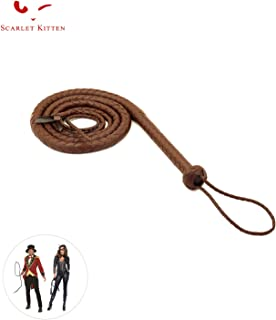 SCARLET KITTEN Cowboy Whip Cat Woman Long Whips Costumes Supplies for Halloween Costume Accessories 5.3ft/1.6m, Brown