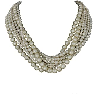 DCA Glass and Necklace for Women's - (White)