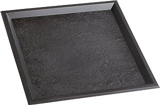 ソリア SOLIA 使い捨て ワンウェイ 容器 ショープレート トレイ プラスチック ブラック 24×24×1cm スレートトレイ 10枚入 PS52502 101入