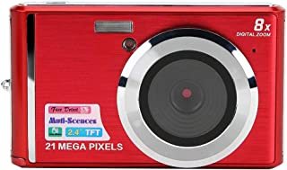 Kids Camera, 21MP Multifunction Portable 2.4in Screen 8 Times Digital Zoom Mini Camera, for Beginner Children(red)