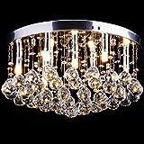 CCLIFE Lámpara Techo de Cristales LED lampara cristal araña lampara cristal colgante, Casquillo G9 x9,40w