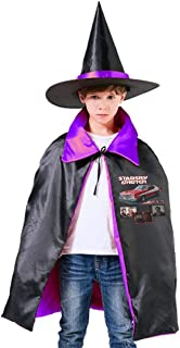 Starsky & Hutch Ford Gran Torino Unisex Kids Hooded Cloak Cape Halloween Party Decoration Role Cosplay Costumes Outwear Purple