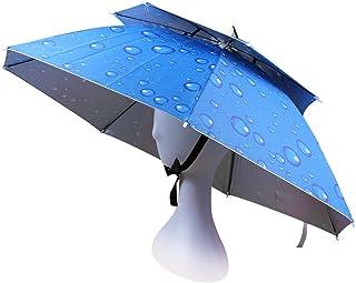 OMUKYかさぼうし 折りたたみ かぶる傘 uvカット レジャーハット 釣り傘 日傘 アンブレラハット 紫外線対策 両手解放可 折り畳み式 晴雨兼用 屋外イベント スポーツ 観戦キャンプ 屋外作業