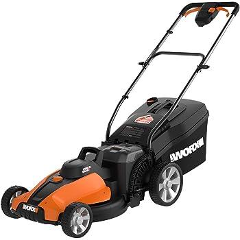 "WORX WG744 40V Power Share 4.0 Ah 17"" Lawn Mower w/ Mulching (2x20V Batteries)"