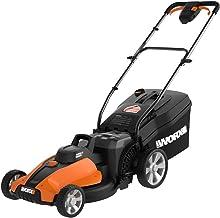 "WORX WG744 40V Power Share 4.0 Ah 17"" Lawn Mower w/ Mulching (2x20V Batteries),Orange"
