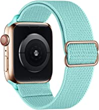 Sponsored Ad - SIRUIBO Stretchy Nylon Solo Loop Bands Compatible with Apple Watch 42mm 44mm, Adjust Stretch Braided Sport ...