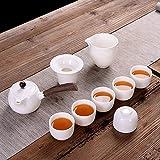 NOSSON Set da tè per adulti, semplice Set Completo da tè per Uso domestico Set da teiera in Legno di Colore Puro in Stile giapponese