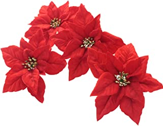 Best christmas tree with red poinsettias Reviews