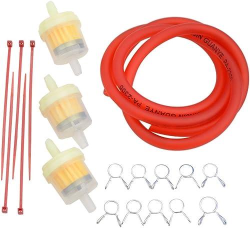 GOOFIT rouge moto carburant filtre ligne clips à ressort pinces tuyau tuyau intérieur dia moto huile essence universe...