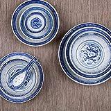 Hemoton 5 Stück Chinesische Art Porzellan Keramik Suppe Löffel Asiatischen Löffel Geschirr Suppe Löffel für Dessert Verkostung Vorspeisen Reis - 3
