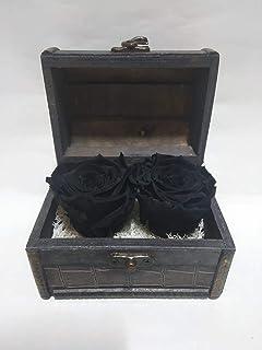 Rosas eternas Naturales Negras en Cofre de Madera. Gratis TU ENVÍO. Precioso Cofre de Madera con Dos Rosas eternas Negras. Hecho en España