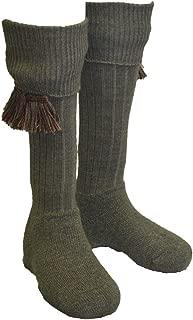 Walker and Hawkes Men's Shooting Country Scarba Socks & Matching Garter Ties