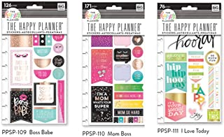 Create 365 Happy Planner Snap in Stickers Bundle - Boss Babe, Mom Boss, I Love Today - 3 Items