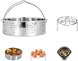 HapWay Stainless Steel Steamer Basket with Egg Steam Rack Trivet Compatible Instant Pot 5,6,8 qt Electric Pressure Cooker