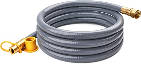GASPRO 10 Feet 1/2 ID Natural Gas Hose, Propane Gas Grill Quick Connect/Disconnect Hose Assembly for Outdoor NG/Propane Appliance -CSA Certified