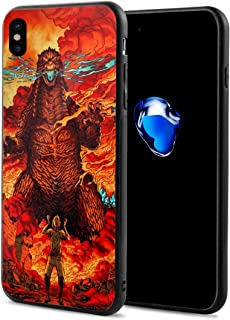 Phone Case Compatible with iPhone X/iPhone Xs Godzilla, Cataclysm Giant Dinosaur King of The Monsters for Unisex Youth, Thin Pretty Soft TPU + PC Bumper Anti-Scratch Full Protective Case
