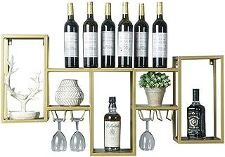 Organisation de Rangement de Cuisine Casier à vin Porte-Verre à vin Support Mural en métal  Étagère Murale Support de Ran...