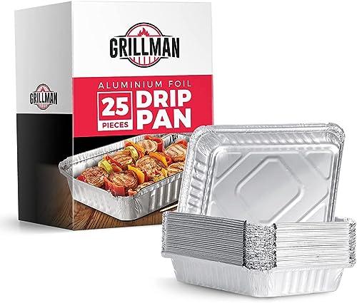 discount Grillman Aluminium Foil Drip Pan popular sale (25 Piece) online