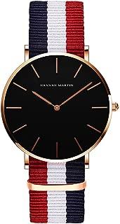 Etbotu Fashion Unisex Quartz Watch,with Nylon Strap,Lovers Casual Trendy,Waterproof