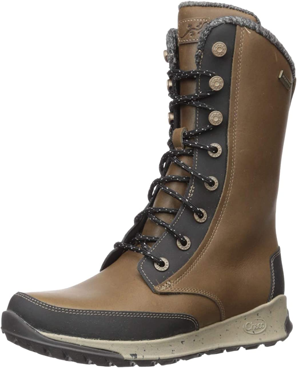 Chaco Women's Borealis Tall Waterproof Boot, Fossil, 11 M US
