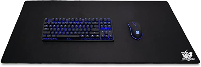 """Zeus Gear Extended XL Gaming Mouse Pad/Mat - Stitched Edges, Black, Natural Rubber 
