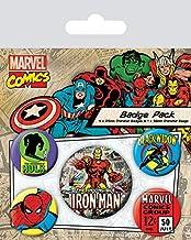 Pyramid International Marvel Retro - Badge Pack Iron Man