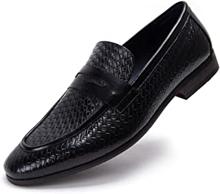 Men's Slip on Dress Penny Loafers - Business Casual Dress Shoes for Men