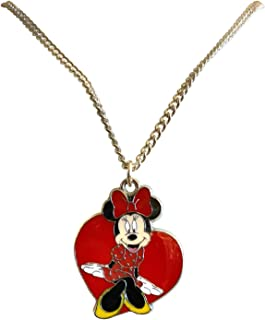 "Porter Gallery USA Heart Silhouette Minnie Mouse 16"" Necklace Set Gift Boxed"