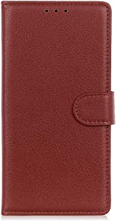 Leather Flip Case Fit for Samsung Galaxy S10e, brown Wallet Cover for Samsung Galaxy S10e