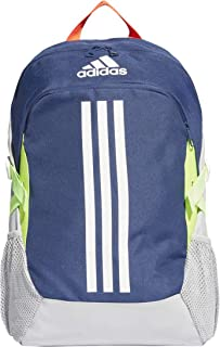 adidas Unisex Power V Backpack, Tech Indigo/Shock Yellow