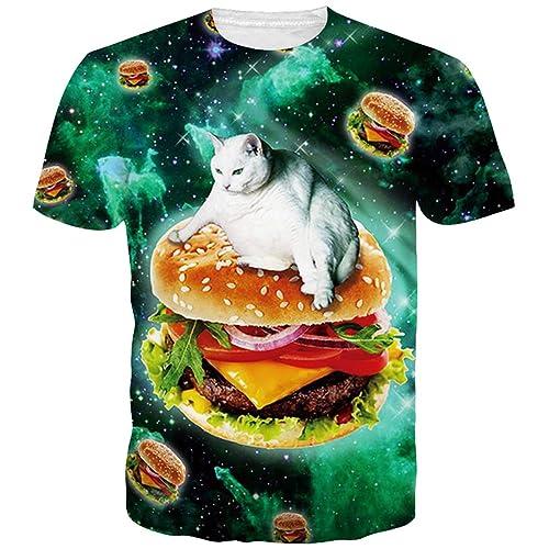 1b6b497e Goodstoworld Unisex 3D Printed T Shirt Personalized Summer Casual Tee Shirts