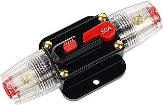 Shiwaki 30A Porte-fusible St/ér/éo//Audio//Voiture//Camping-Car /à Circuit Int/égr/é en Courant Continu avec Disjoncteur CC 60A