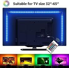 LE 2M LED TV Backlights Kit, tira de luz USB con mando a distancia, 5050 RGB, cambio de color, regulable Bias iluminación para 32 – 65 pulgadas TV PC Monitor (4 x 50 cm tira LED)