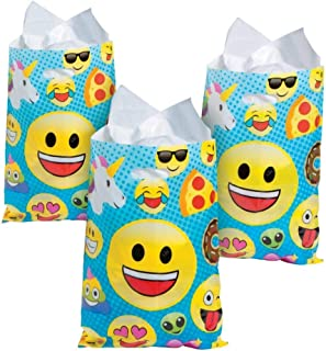 """Creative Converting 325102 Show Your Emojions Loot Bags Party Supplies 9/"""" x 6.5/"""" Multicolor"""