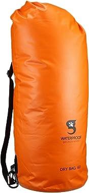 geckobrands Tarpaulin Dry Bag, PVC Material, Shoulder Strap, 3