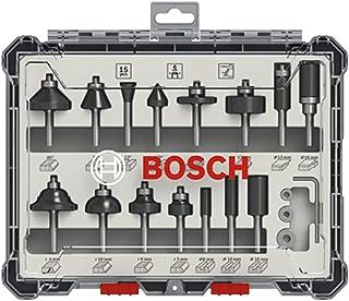 Bosch Professional 15 st. fräs-set (för trä, för fräsar med 6 mm skaft)