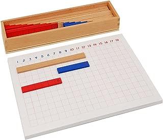 Leader Joy Montessori USA Montessori Math Materials Subtraction Strip Board for Preschool Early Learning Tool
