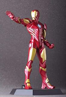 WAHE Anime Statue Avengers 2 CrazyToys American Hero Iron Man Red Boxed Hand Hold About 22CM