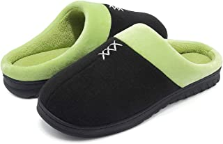 SOVIKER Men's Cozy Memory Foam Slippers Plush Lining Anti-Skid House Shoes with Indoor Outdoor